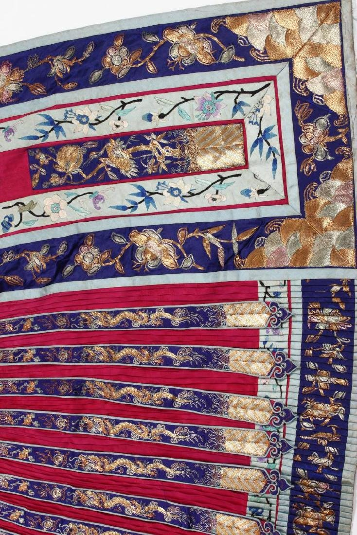 Chinese Late Qing Han Silk Wedding Skirt, - 6