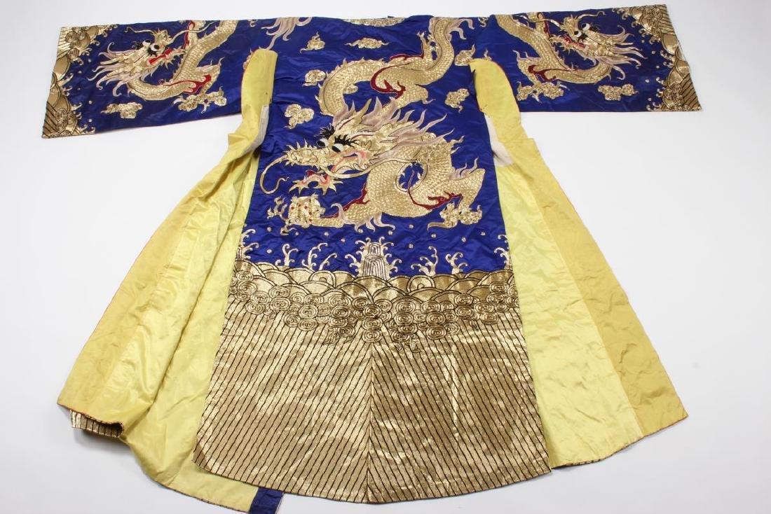 Large Chinese Opera Emperor Costume, - 7