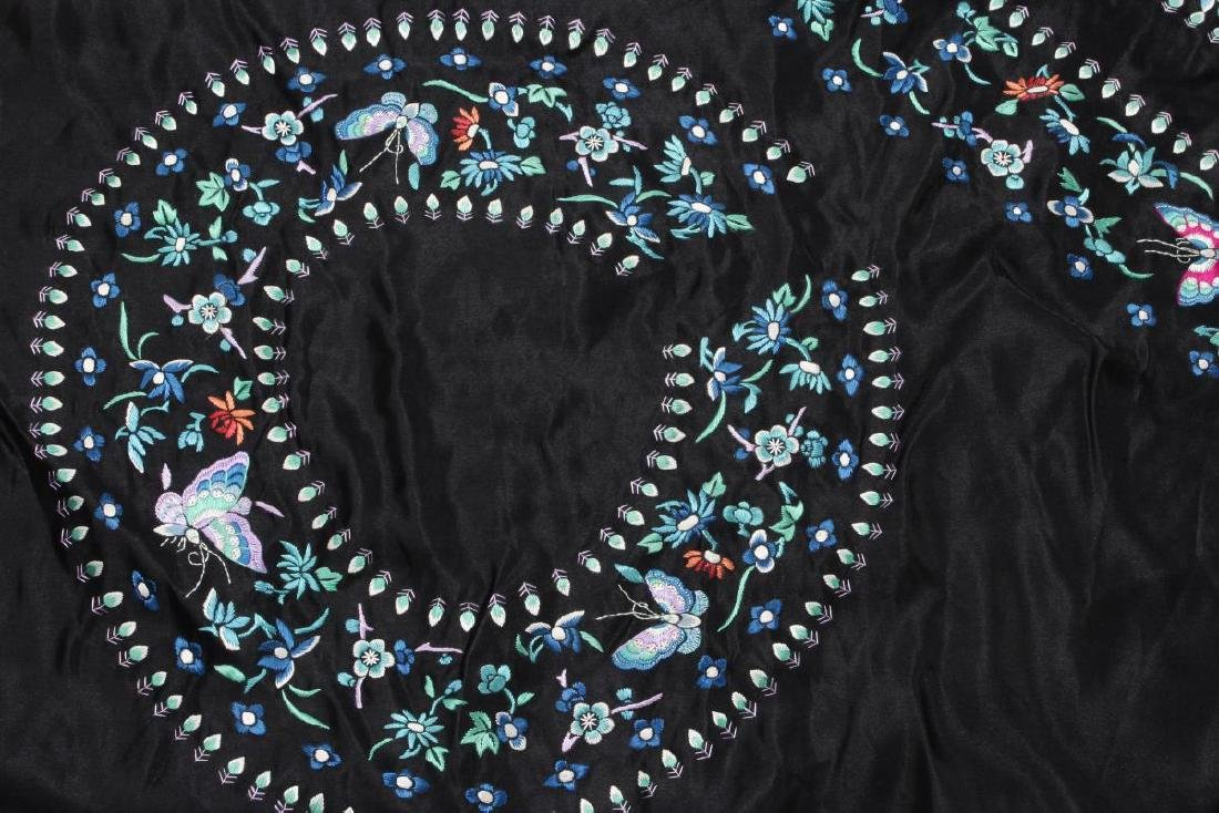 Chinese Embroidered Robe Fabric, - 2