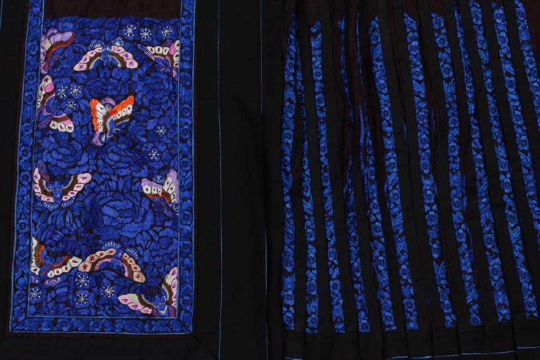 Chinese Early Republic Han Satin Skirt, - 2