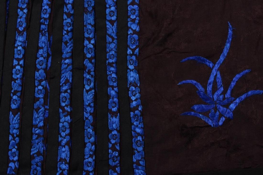 Chinese Early Republic Han Satin Skirt, - 5