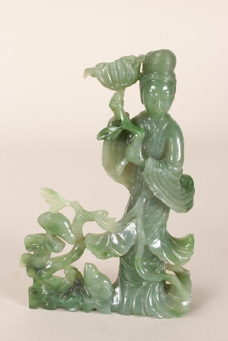 Chinese Carved Jade Kwan Yin,