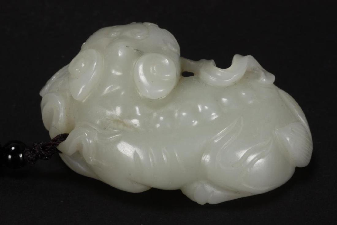 Chinese Carved Jade Kylin, - 3
