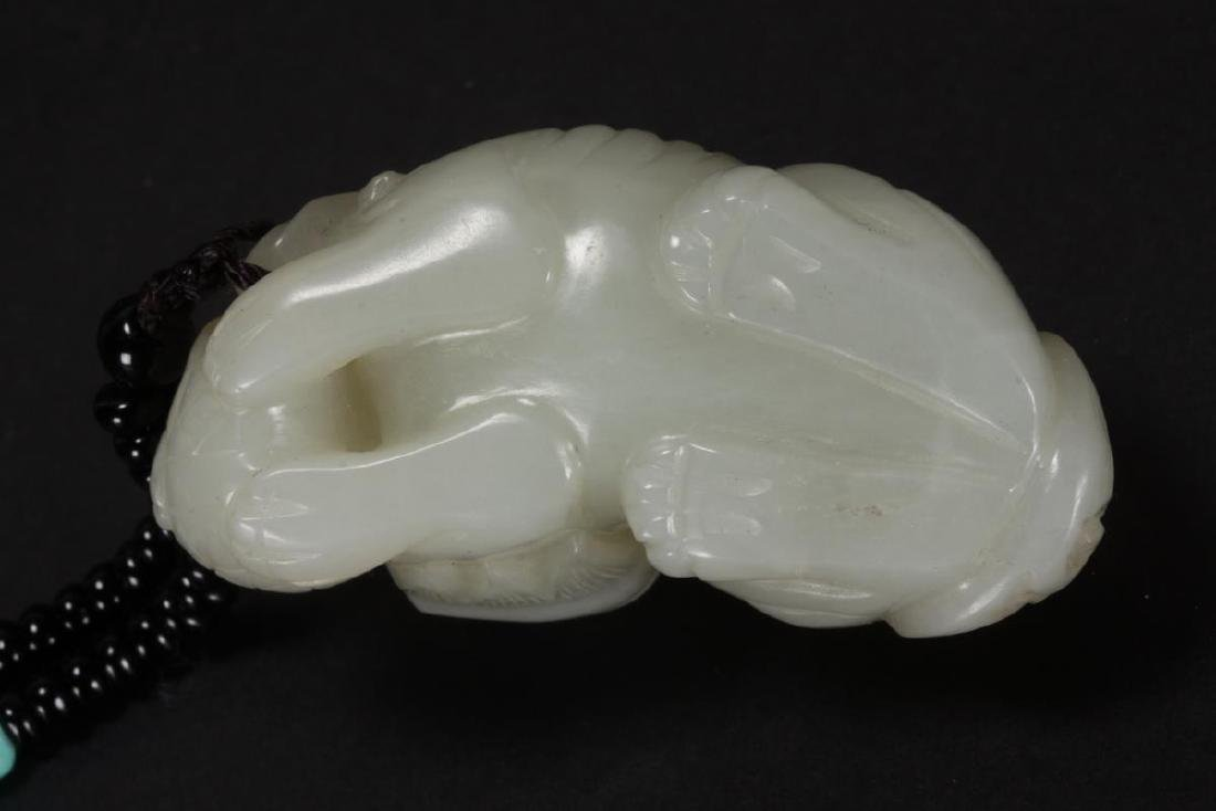 Chinese Carved Jade Kylin, - 6