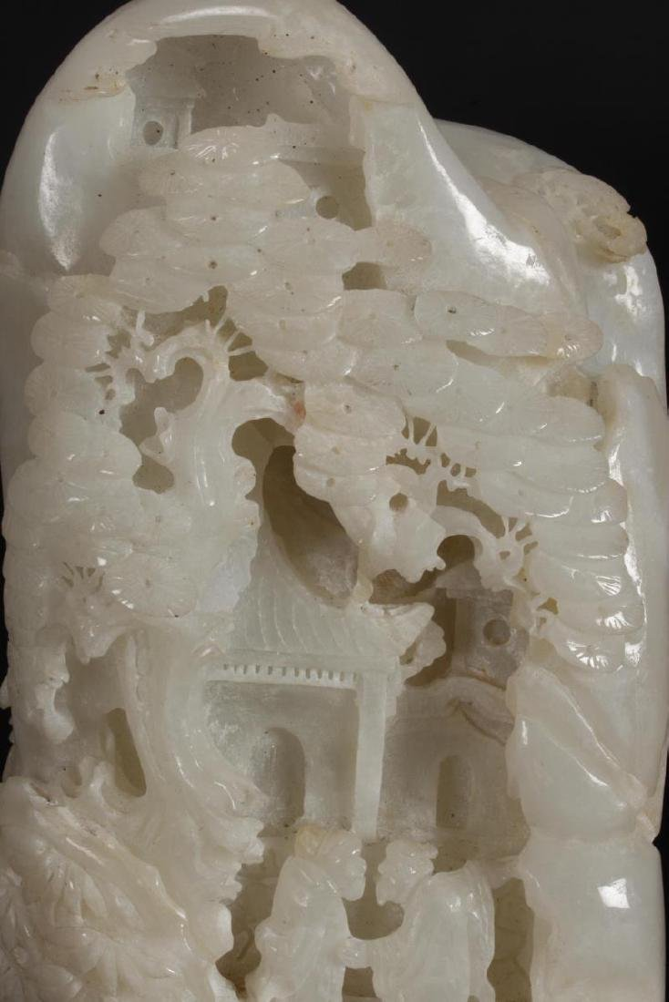 Chinese White Carved Boulder, - 6