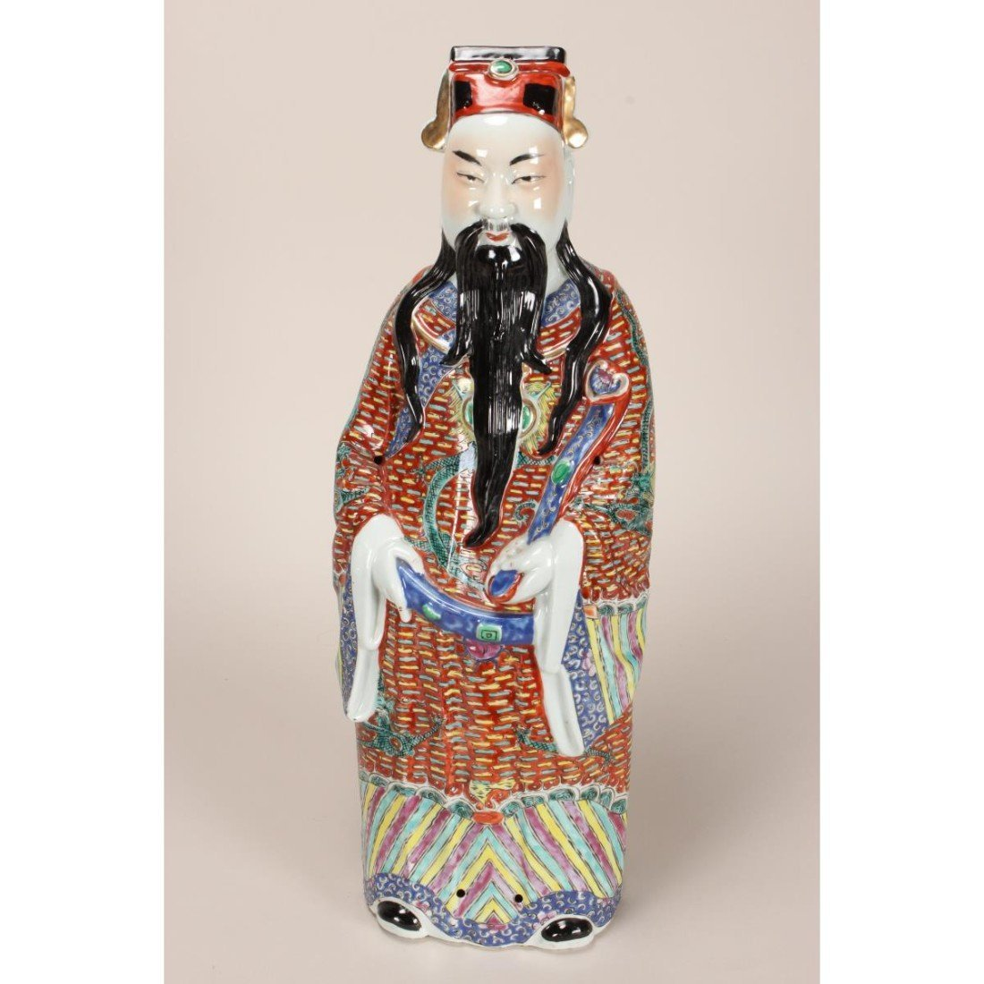 Large Chinese Porcelain Figure of Immortal,