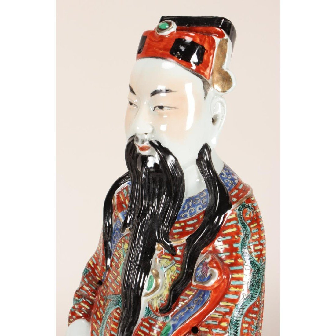 Large Chinese Porcelain Figure of Immortal, - 5