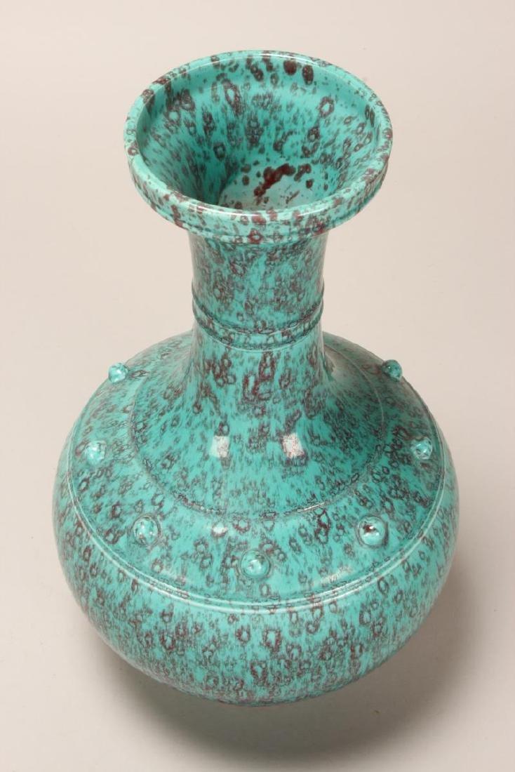 Chinese Mottled Glaze Porcelain Vase, - 2