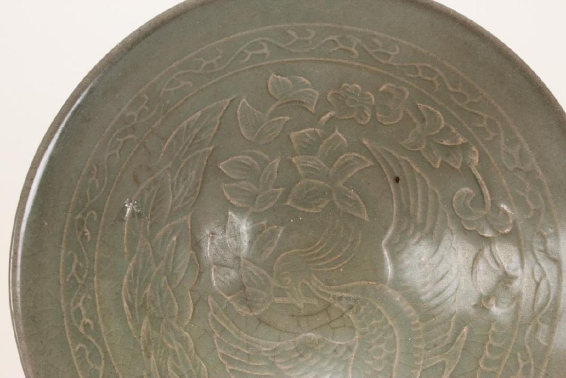 Chinese Celadon Bowl, - 4