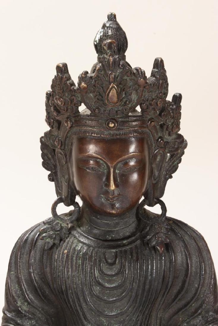 Chinese Bronze Standing Buddha, - 2