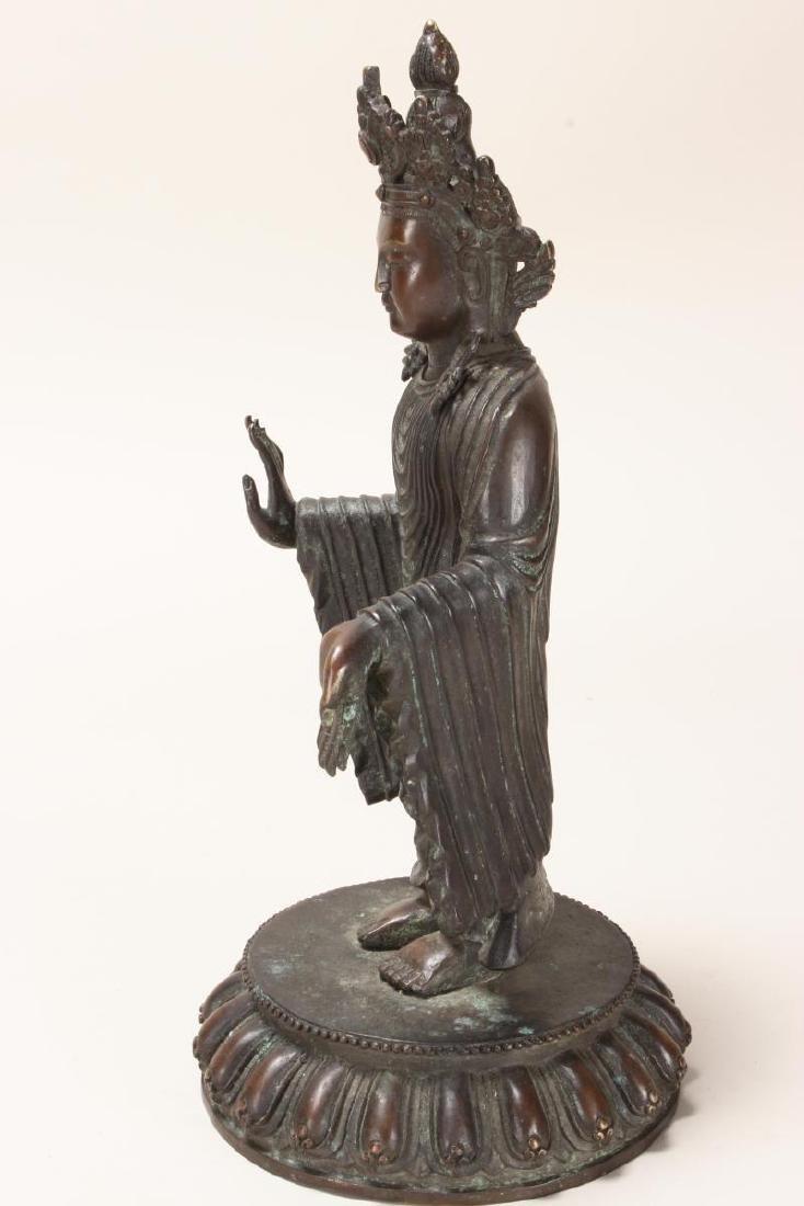 Chinese Bronze Standing Buddha, - 4