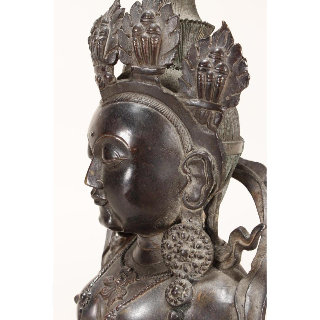 Chinese Bronze Seated Tara, - 7