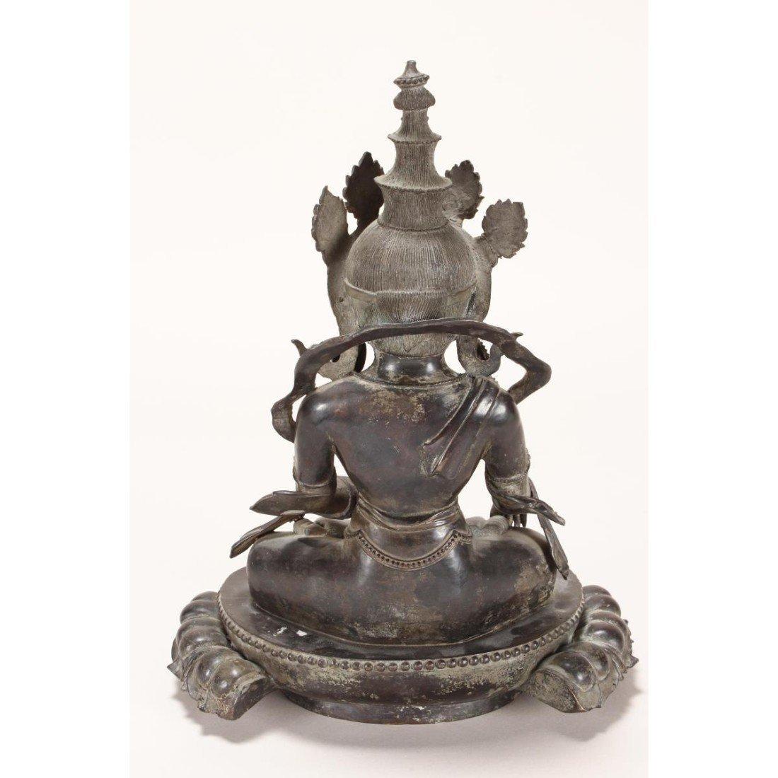 Chinese Bronze Seated Tara, - 8