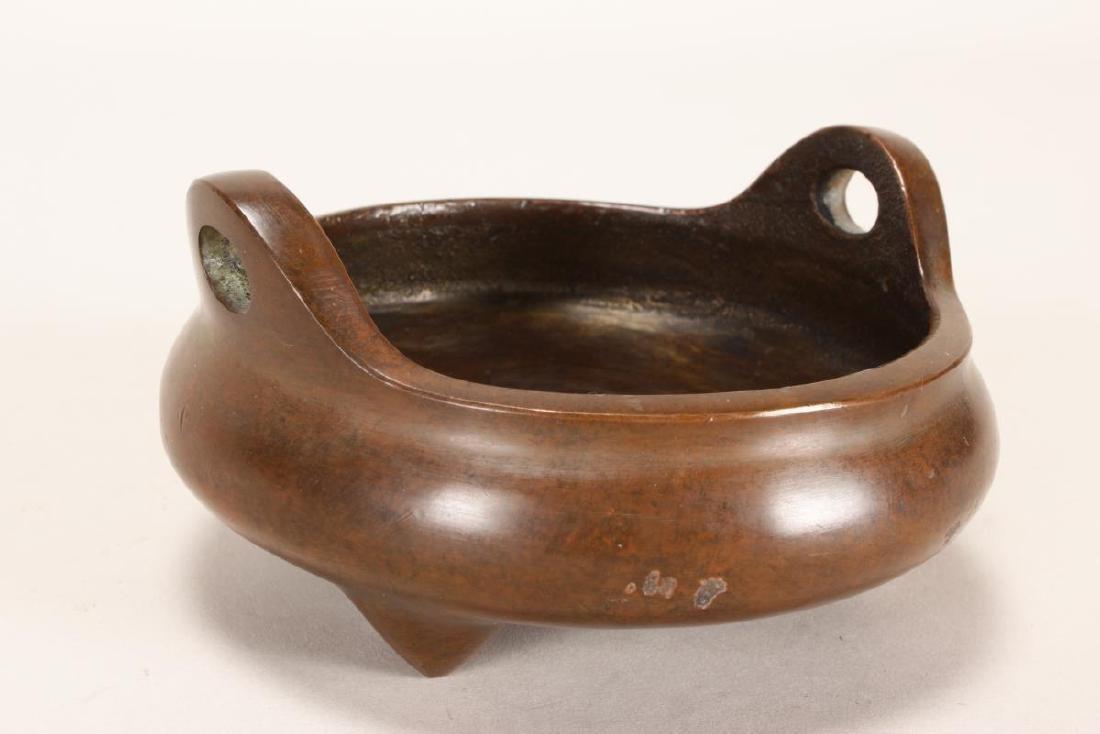 Chinese Bronze Tripod Censor,