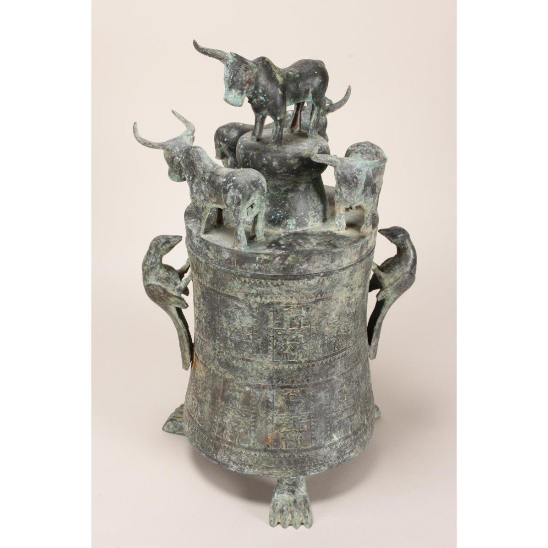 South East Asian Bronze Jar and Cover,