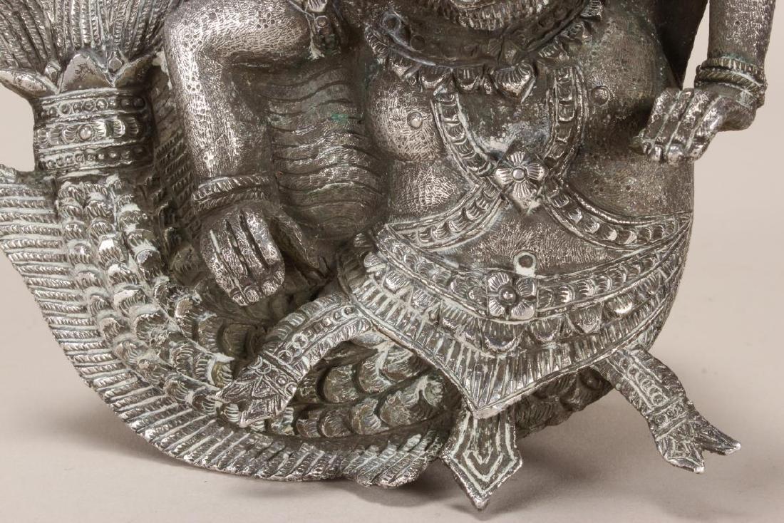 Burmese Silver Betel Box, - 3