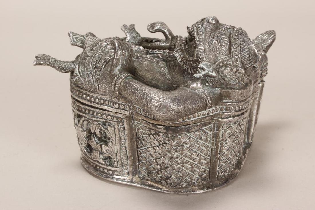 Burmese Silver Betel Box, - 5