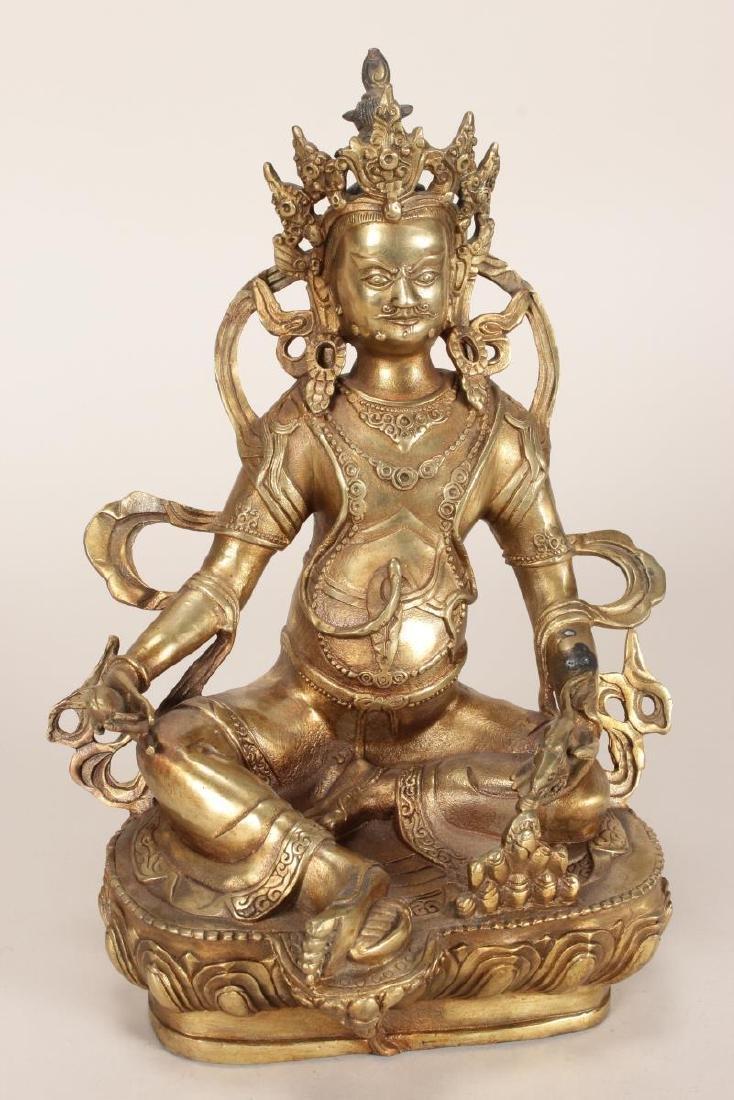 Chinese Gilt Bronze Seated Bodhisattva,