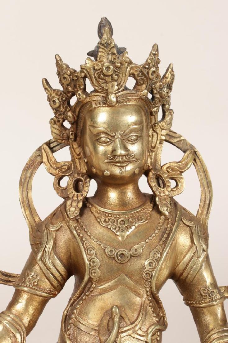 Chinese Gilt Bronze Seated Bodhisattva, - 2
