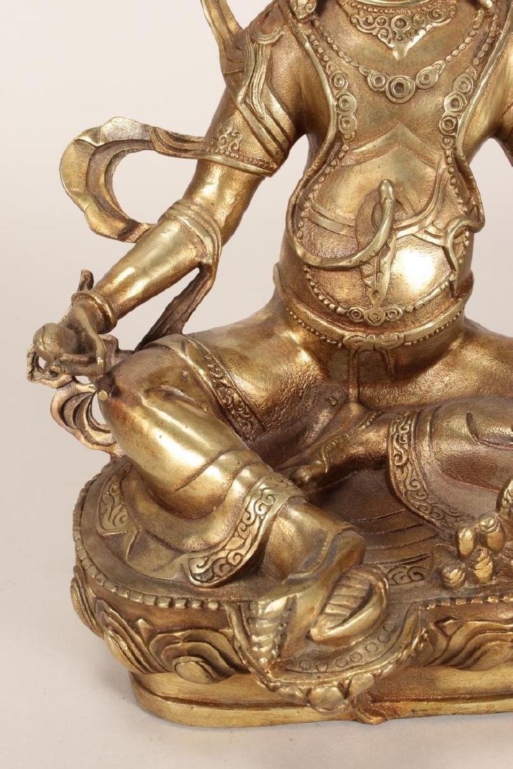 Chinese Gilt Bronze Seated Bodhisattva, - 3