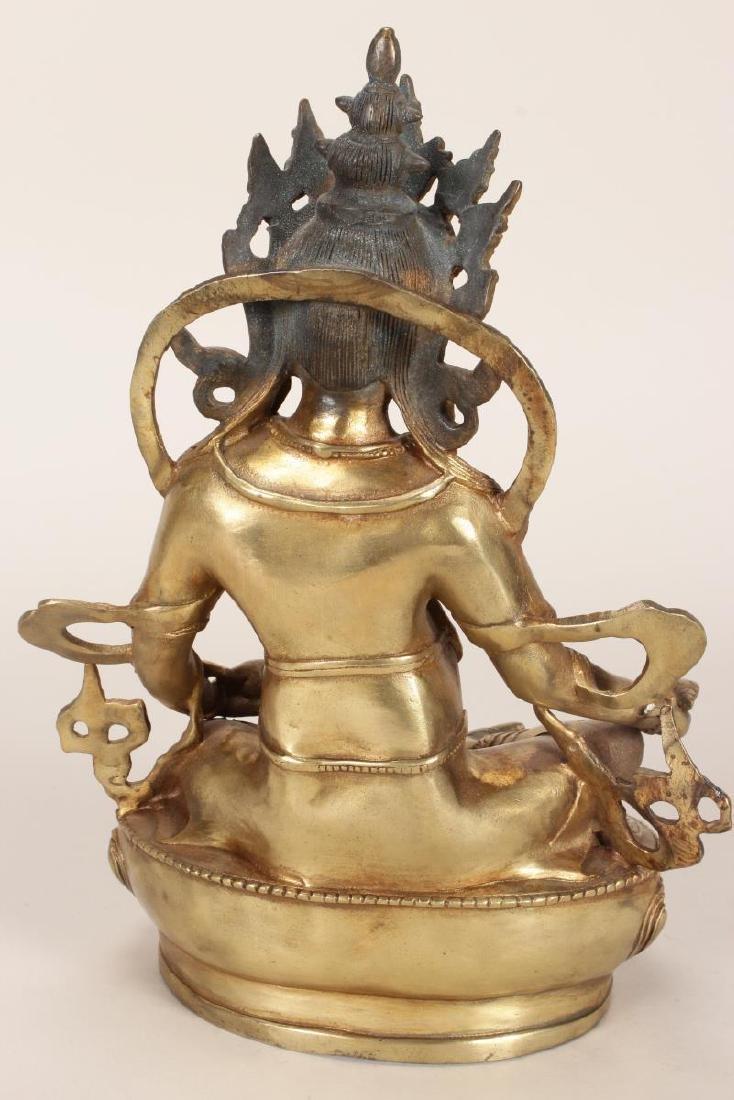 Chinese Gilt Bronze Seated Bodhisattva, - 6