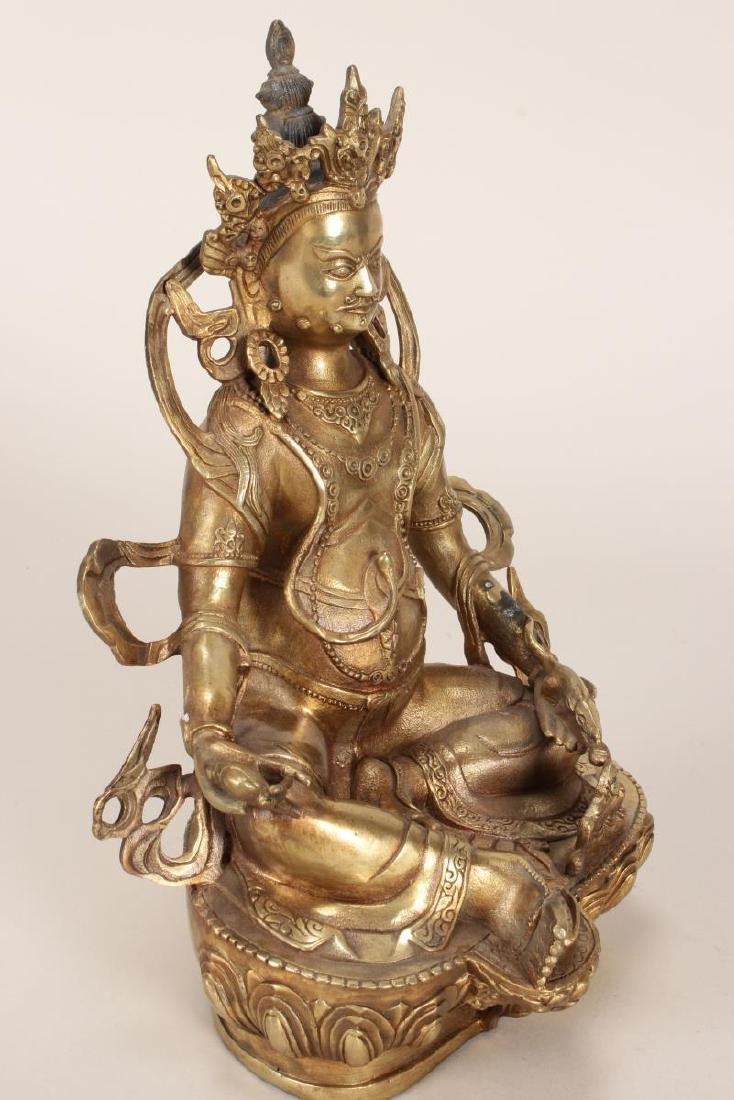 Chinese Gilt Bronze Seated Bodhisattva, - 7