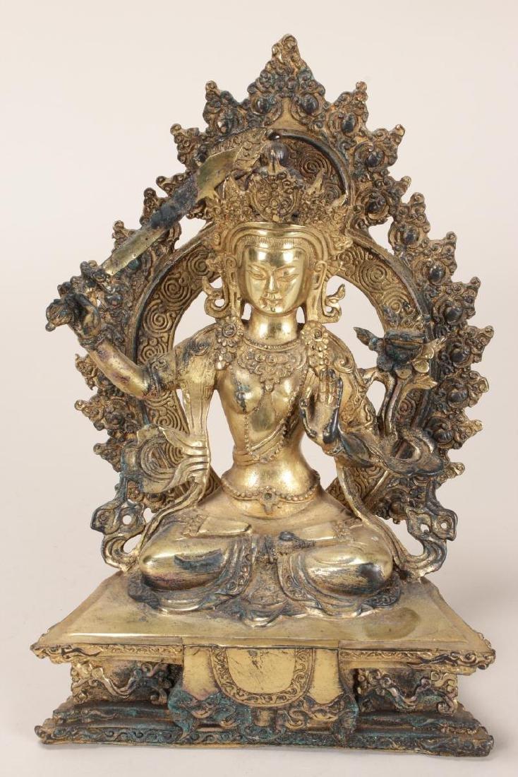 Chinese Gilt Seated Tara,