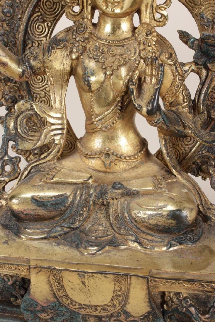Chinese Gilt Seated Tara, - 3