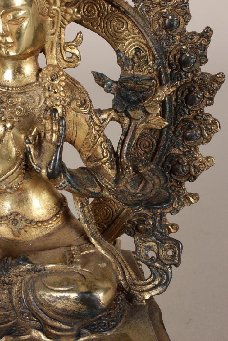 Chinese Gilt Seated Tara, - 4