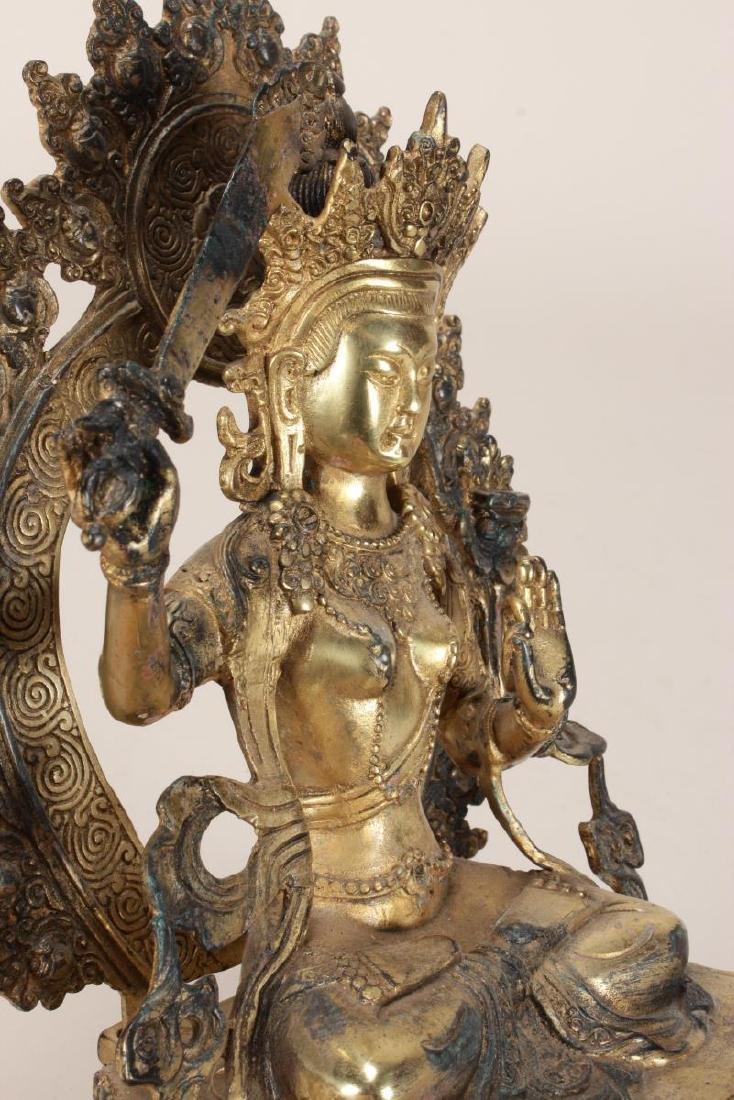 Chinese Gilt Seated Tara, - 8