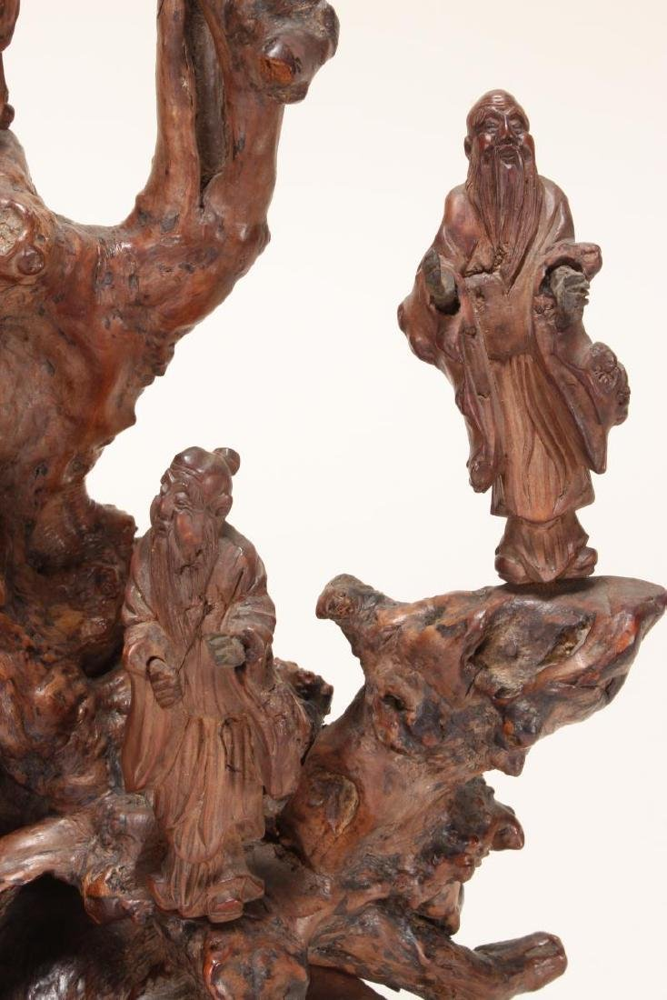 Chinese Root Carving, - 3