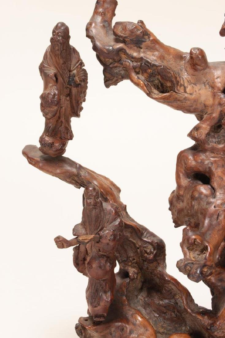 Chinese Root Carving, - 4