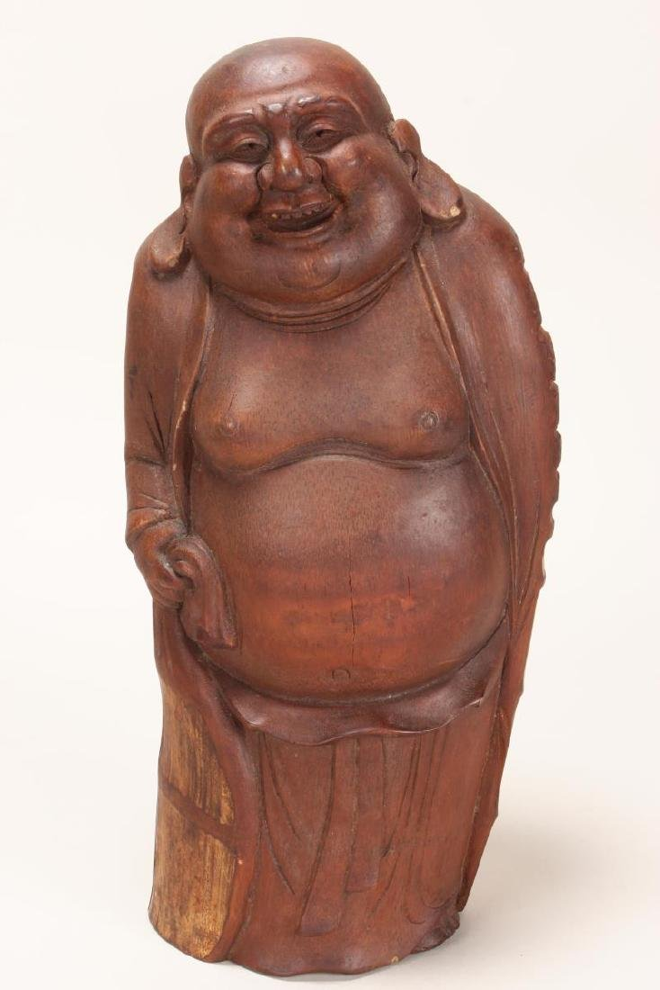Chinese Carved Bamboo Figure of Budai,
