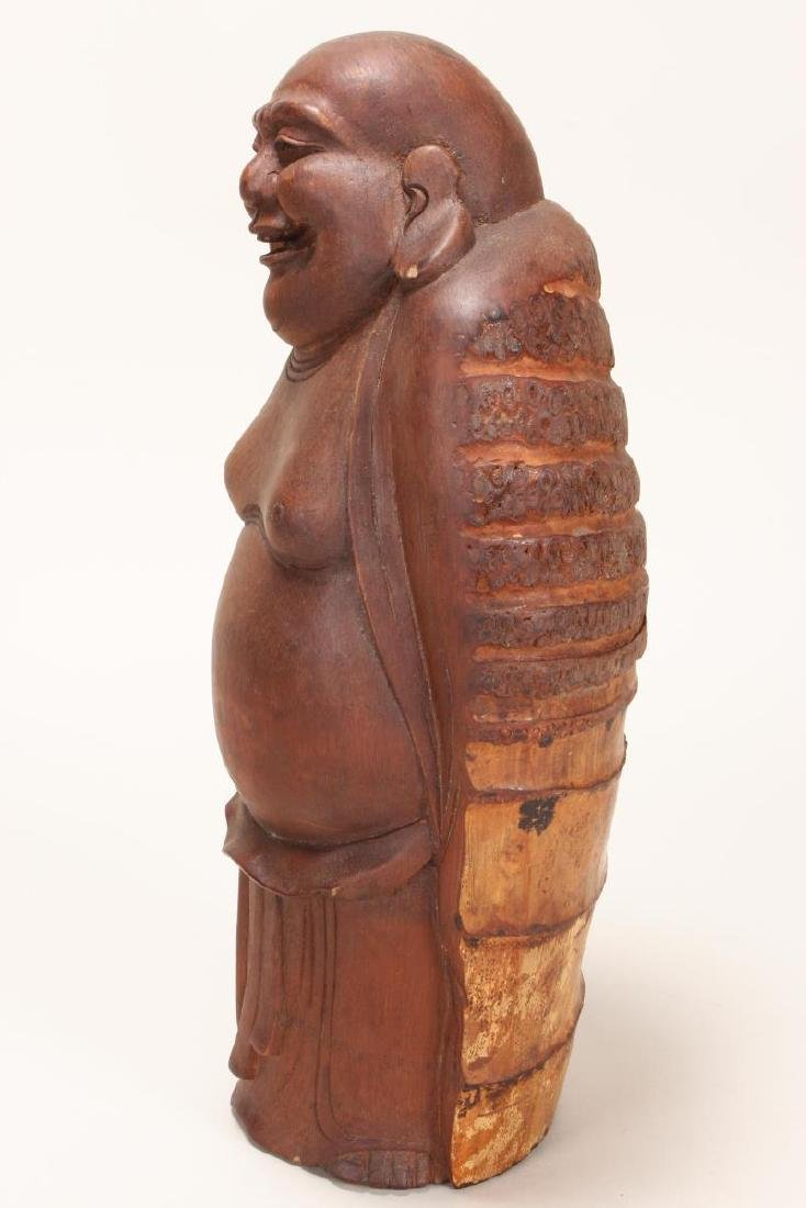 Chinese Carved Bamboo Figure of Budai, - 3