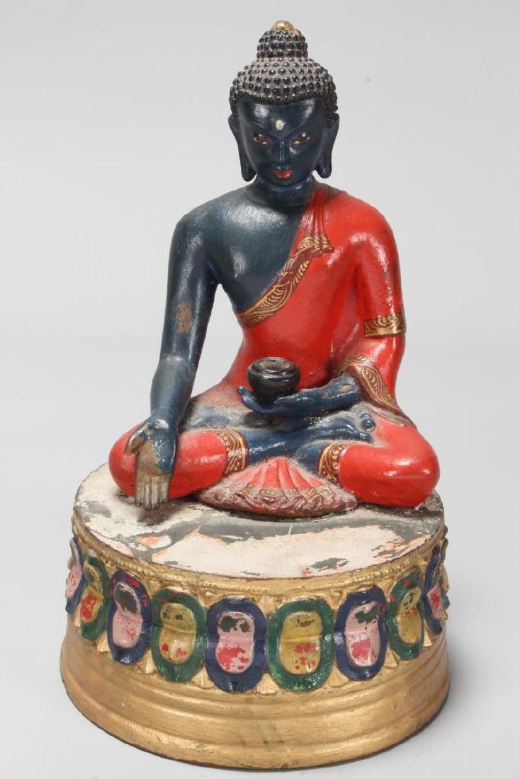 Terracotta Seated Buddha,