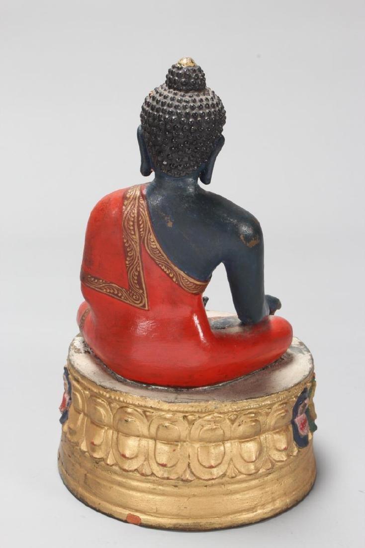 Terracotta Seated Buddha, - 2
