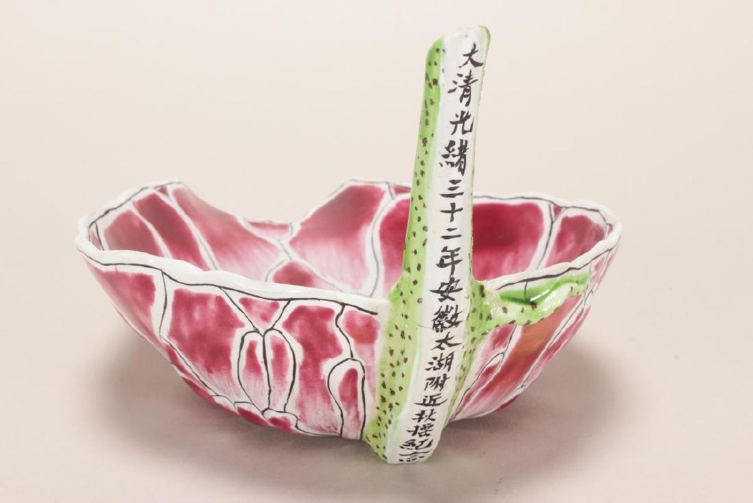 Chinese Porcelain Lotus Dish, - 4