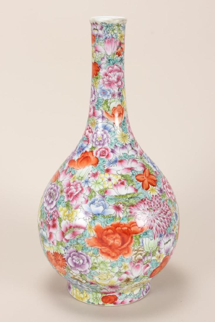 Chinese Thousand Flowers Porcelain Vase,