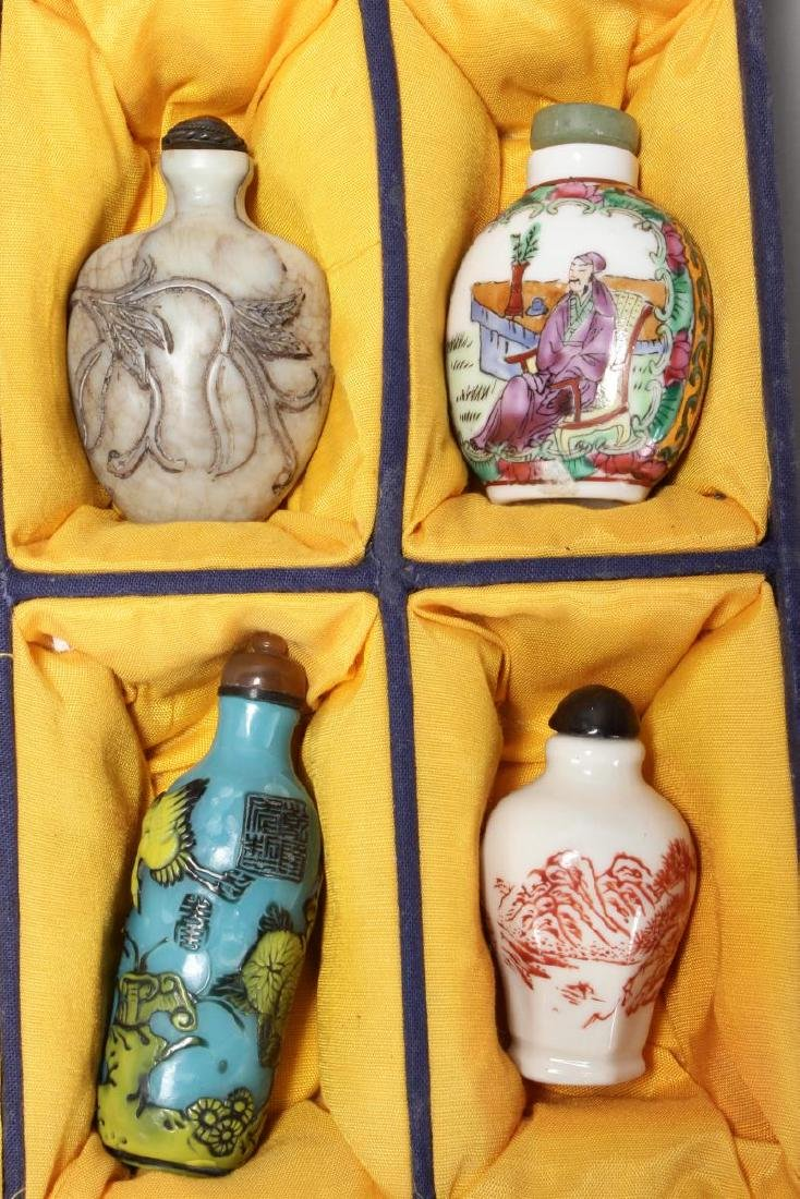 Ten Assorted Chinese Snuff Bottles and Stoppers, - 4