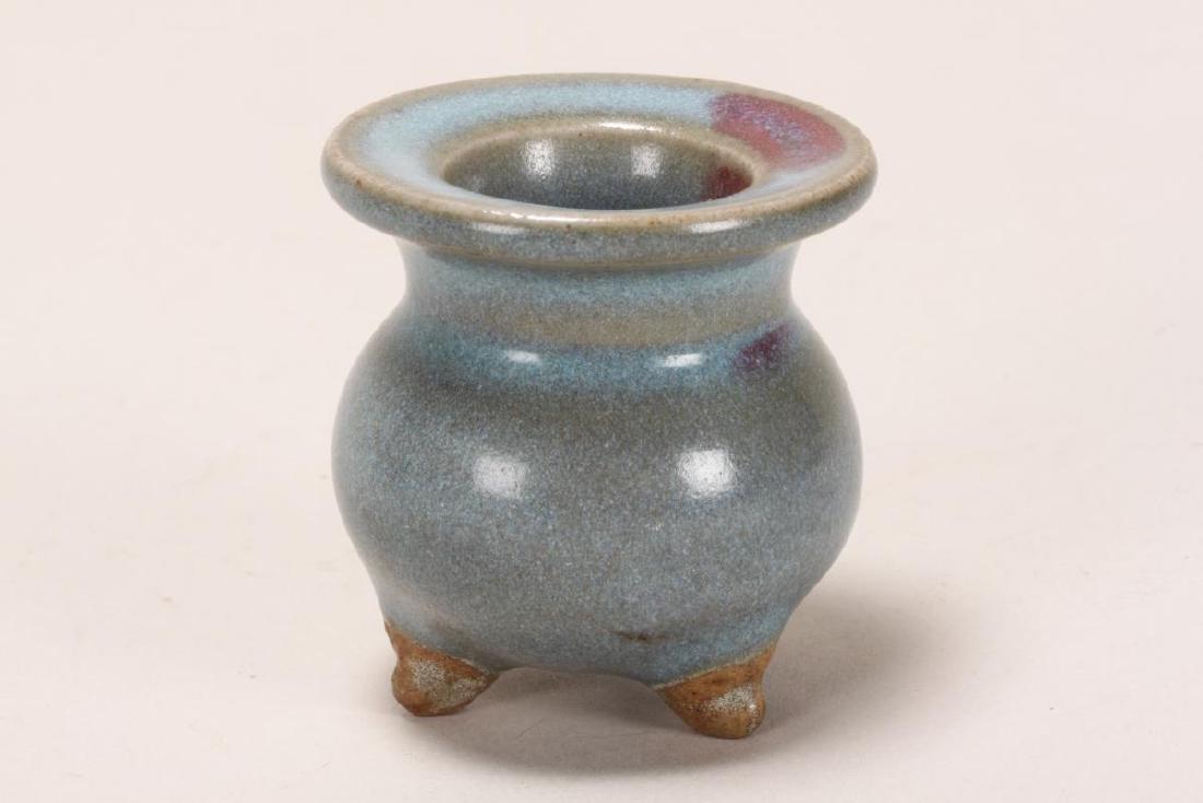 Chinese Miniature Jun Glaze Censer,