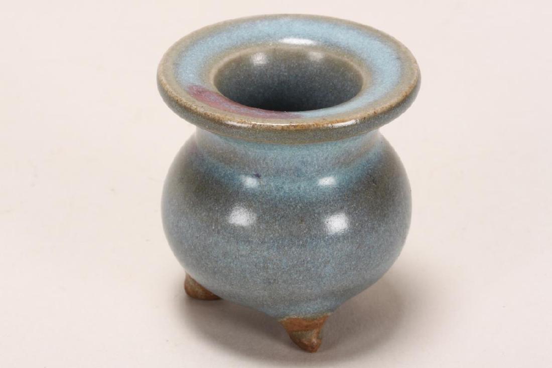 Chinese Miniature Jun Glaze Censer, - 2