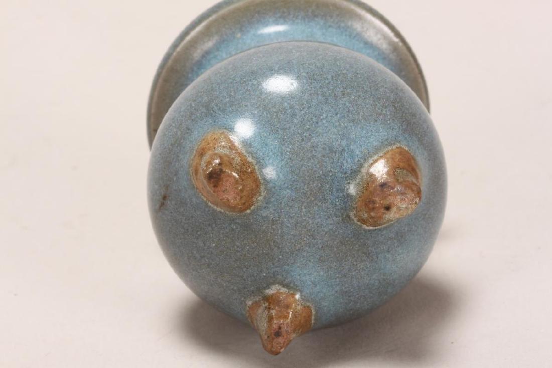 Chinese Miniature Jun Glaze Censer, - 3