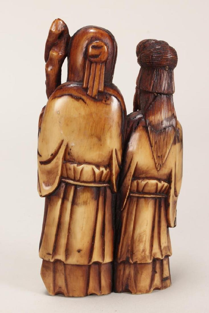 Chinese Carved Figure Group, - 2