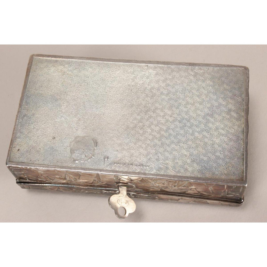 Japanese Silver Plate Box and Cover, - 4
