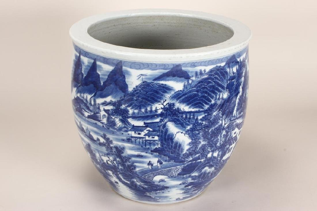Chinese Blue and White Porcelain Jardiniere,