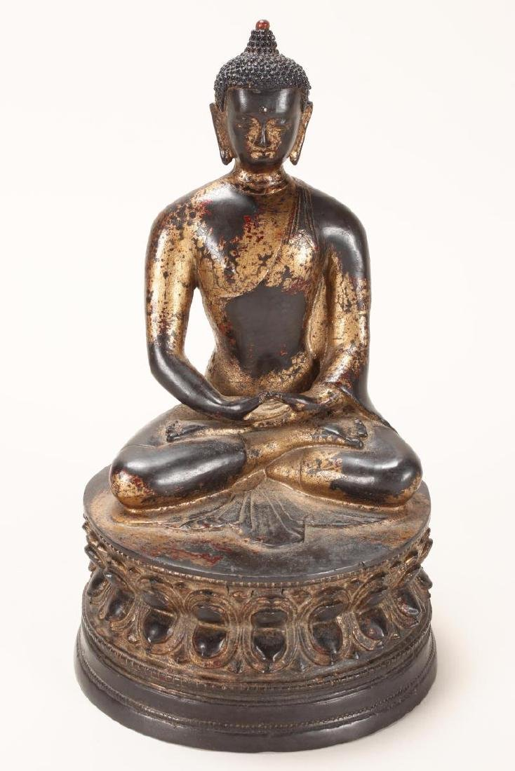 Chinese Gilt Bronze Buddha,