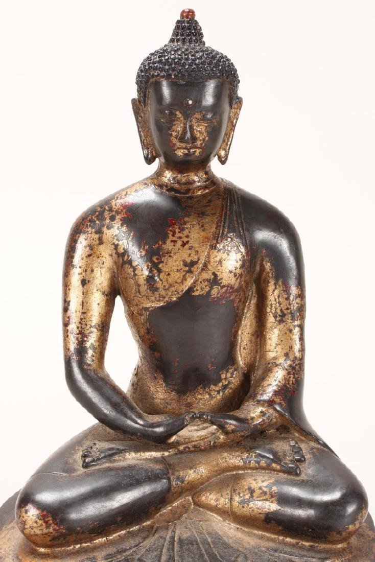 Chinese Gilt Bronze Buddha, - 2