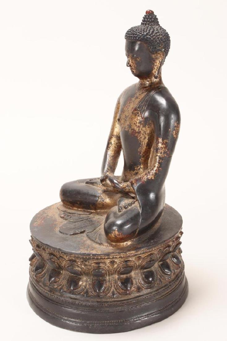 Chinese Gilt Bronze Buddha, - 3