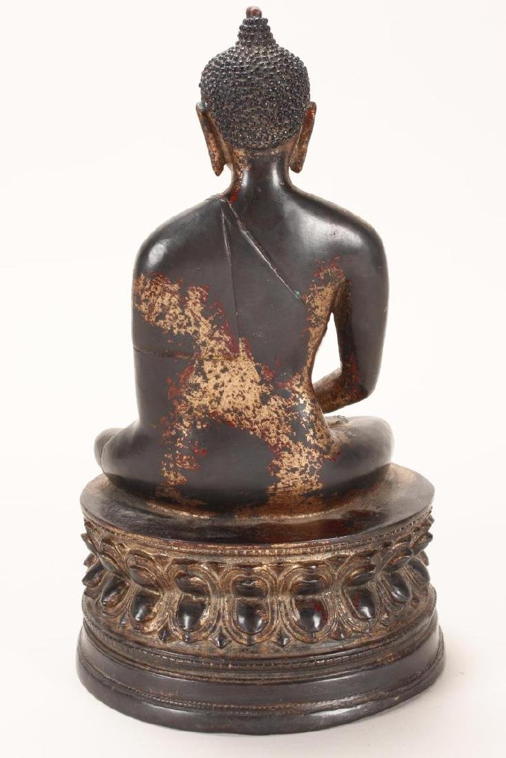 Chinese Gilt Bronze Buddha, - 5