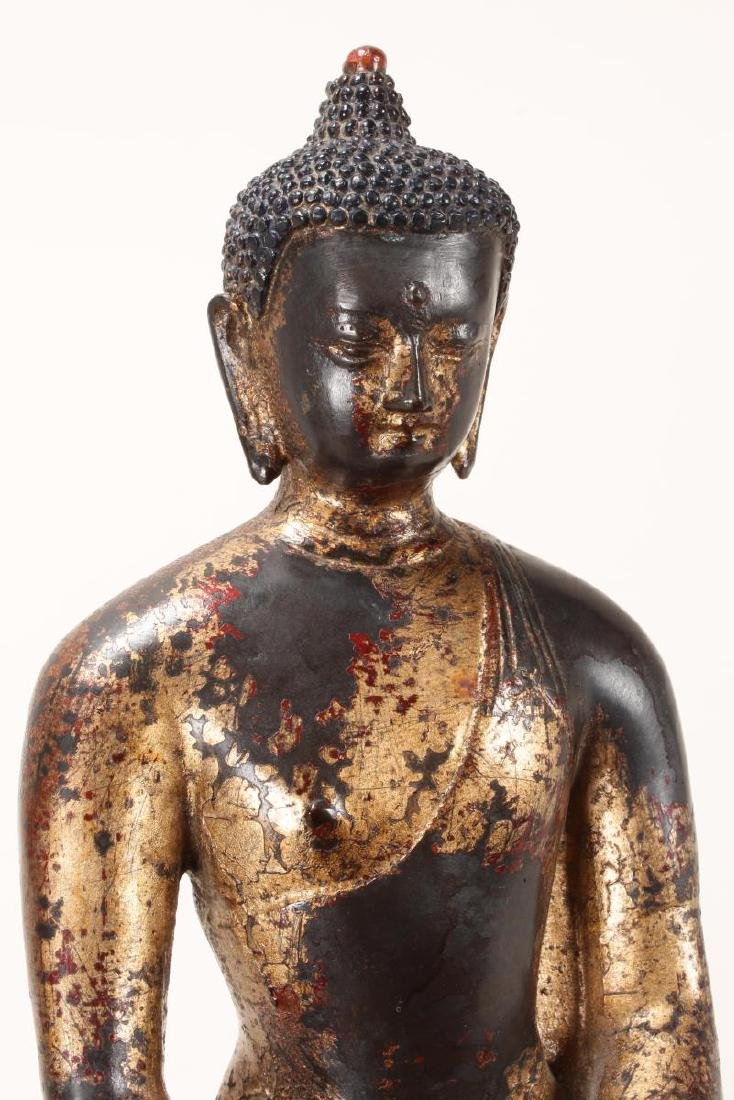 Chinese Gilt Bronze Buddha, - 6